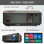 SMDMM M5 M5W M5S M5SW Projecteur Full HD 1080P 4K 6500 Bluetooth compatibleSB avec Cadeau (Color : M5S-W)