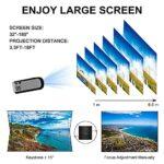 SMDMM Projecteur Full HD LED 2200 Lumens Home Cinema WiFi USB AV SD Compatible TV projecteur Petit (Color : Basic Version)