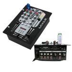 Sonorisation dj 2 Enceintes 1200w total – Ampli 480w – Table de Mixage USB BLUETOOTH – Câbles Offerts – PACK SONO MIX BAR CLUB DISCO SALLE DES FETES