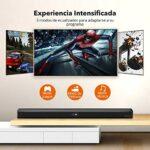 TaoTronics Barre de son, trois modes haut-parleur audio pour TV, stéréo Bluetooth 5.0, 32 pouces, Home Cinéma, optique/AUX/RCA, montage mural, télécommande, noir