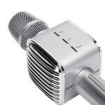 Vbestlife1 Microphone sans Fil Bluetooth, Micro en Direct Multifonctionnel Anti-interférences, Microphone Intégré de Diffusion en Direct de K Song, Portable, de Poche, pour la Maison, KTV, Fête