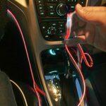 Corlidea EL Wire Tube néon flexible DC 12 V pour éclairage intérieur de voiture, bande lumineuse pour revêtement intérieur Gap décoratif (3M, rouge)