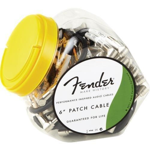 Fender Performance Series 6″ Câbles de raccordement – Bol de 40 pour pédales de guitare et pédales
