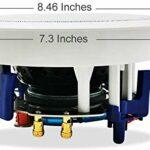 Herdio 5,25 Pouces 600 Watts Bluetooth Haut-parleurs de Plafond de Salle de Bains pour cuisine, chambre, salle de bain, cinéma maison (4 haut-parleurs)