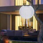 Lanternes solaires avec pompons colorés – Lanternes solaires d'extérieur résistantes aux intempéries – Lanterne de jardin pour mariage, église, jardin