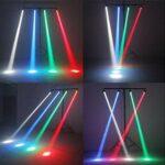 Projecteurs pin spot, 12W RGBW 4 in 1 Spotlight LED Faisceau, Pinspot Lumière Mirror Balls DJ Disco Effet Lampe