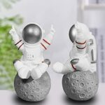 QIUQIAN Astronaut Accessories, New Creative Gifts, Cartoon Birthday Gifts, Home Decorations, Silver Speakers