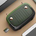 SCYMYBH Haut-Parleur Bluetooth, Son stéréo, 4h Playtime, Support TF Carte/Bluetooth/USB, Micro-intégré pour Voyage à Domicile (Color : Green)