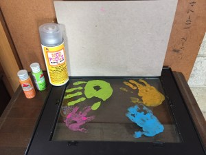 DIY Mother's Day present kid handprint.
