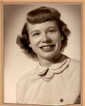 Liz Kleintop, 1950 or 51, approx 20 years old