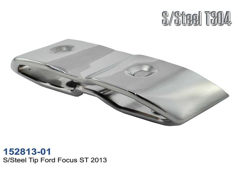 ford focus st 2013 edelstahl auspuffblende endrohr 275x75 l155