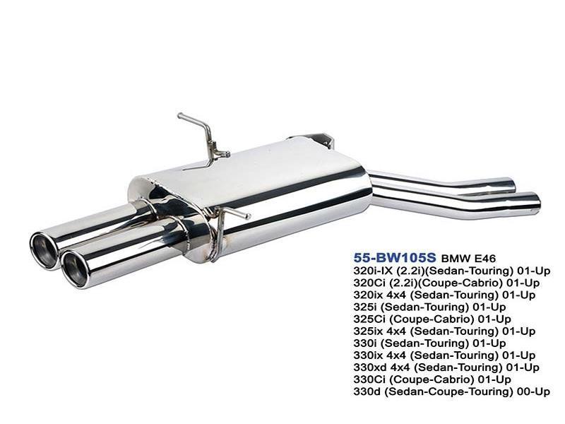 bmw e46 320 325 330 rear exhaust muffler