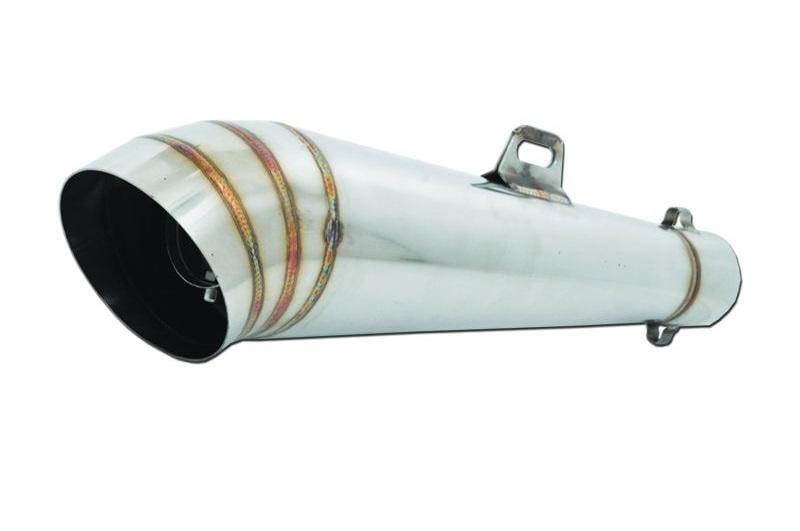 universal motorcycle exhaust muffler stainless steel gp02 d90 l400 in50