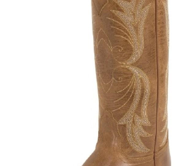 Nocona Nl Ladies Fashion Western Boot With Tan Westlin Calf Foot And A Narrow Medium Snip Toe