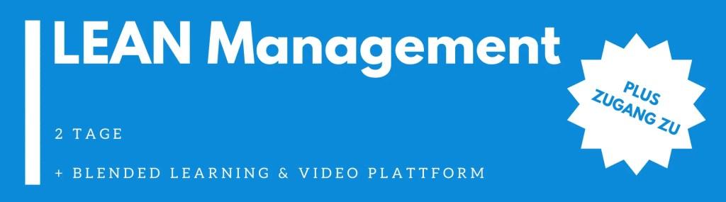 Lean Management Basiswissen Seminar / Schulung