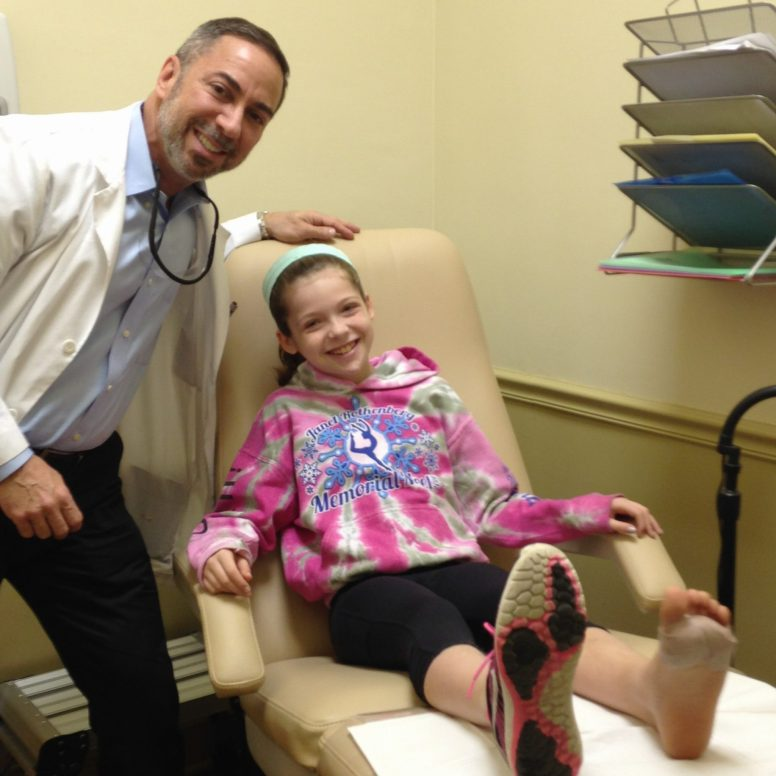 Dr. Ken with girl