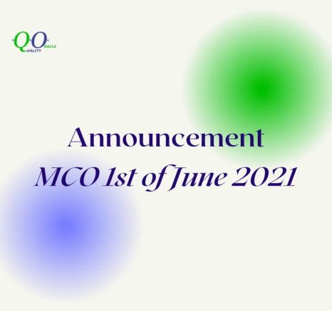 Office Operations: Movement Control Order as of 1st June 2021