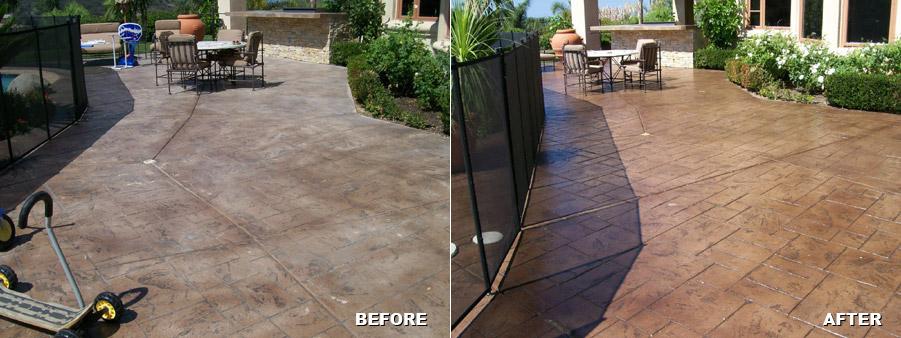 residential concrete patio resurfacing
