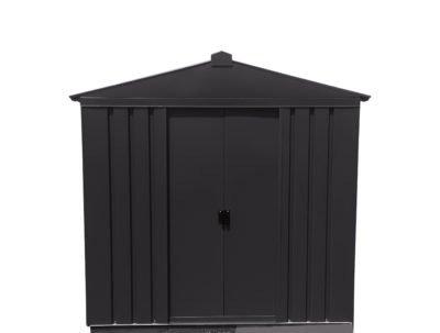 flat pack metal garden shed in black