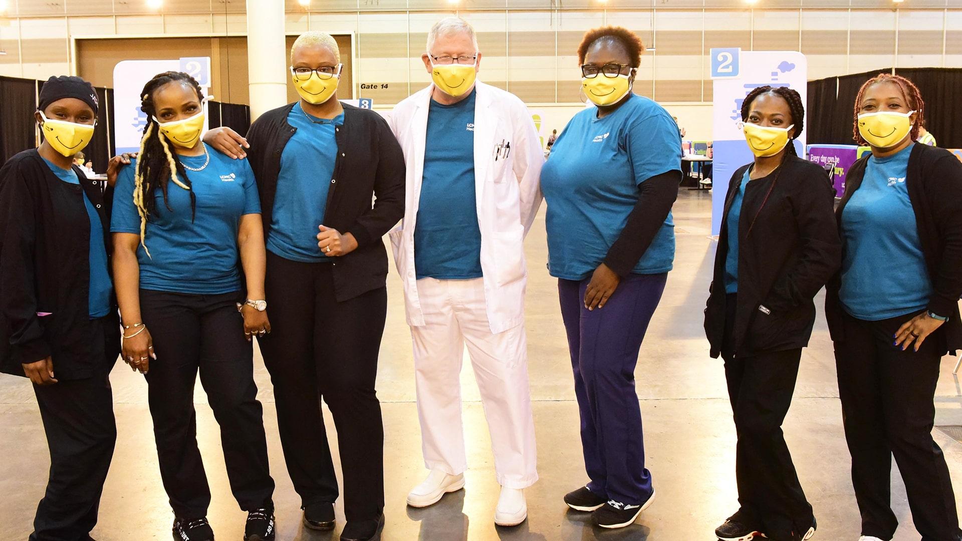 QSS COVID vaccination staff members