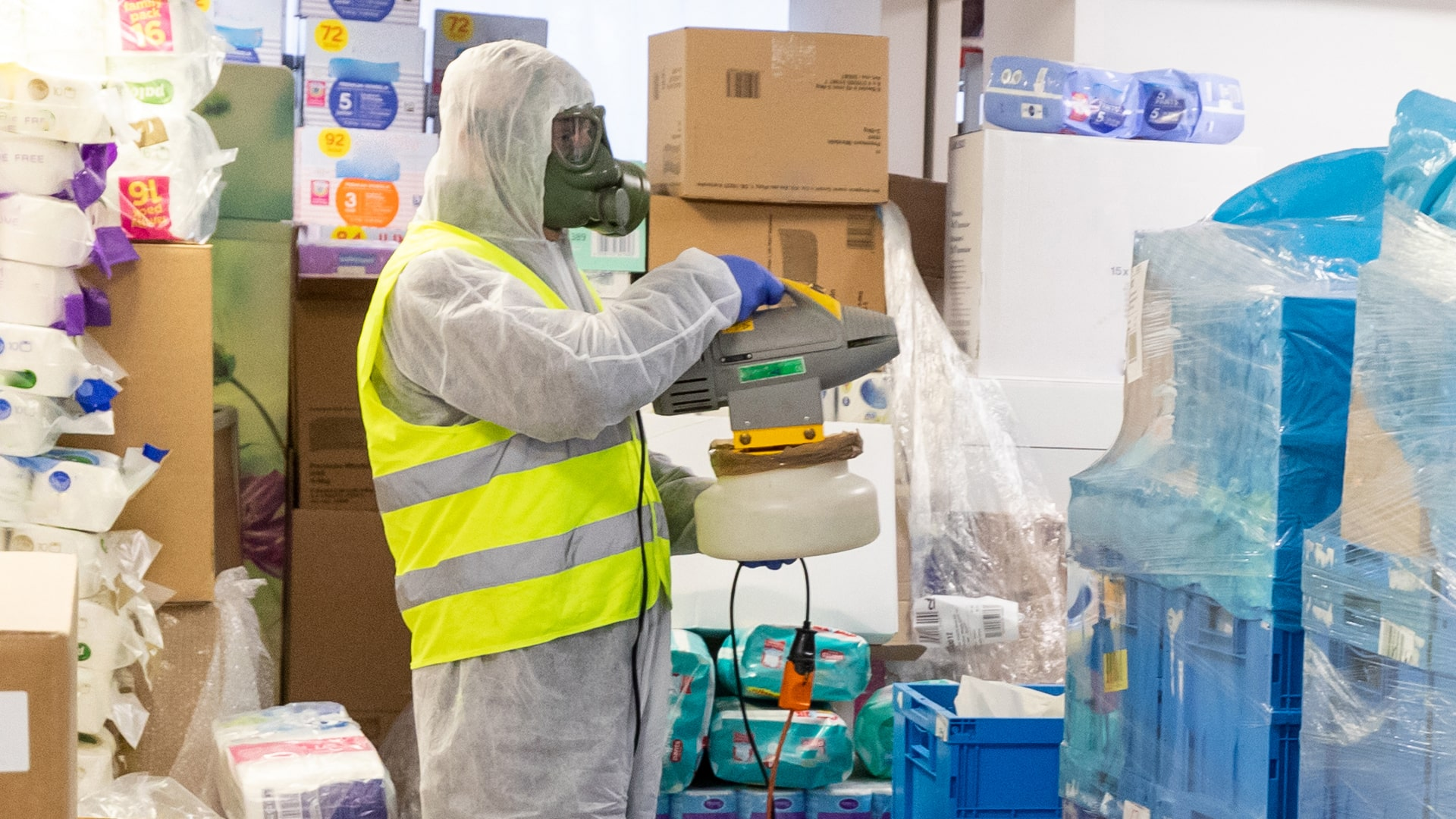 QSS offers Electrostatic disinfecting services
