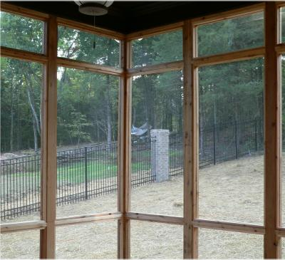 attaching patio porch screen panels