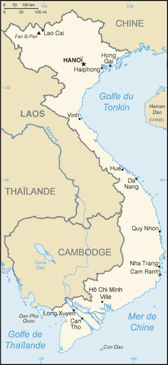 Vietnam : carte et plans