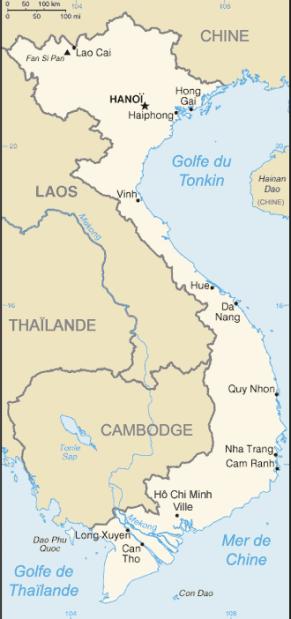 Carte et plans du Vietnam