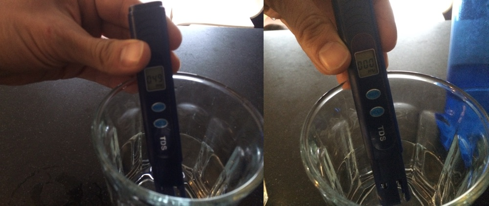 Water quality testing TDS meter