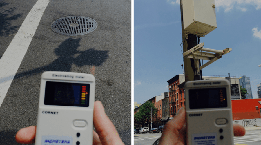 Outdoor EMF and RF levels