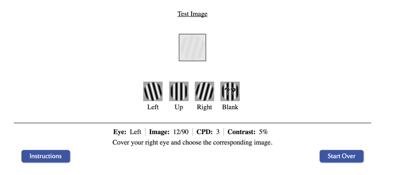 Online VCS test contrast image