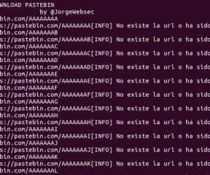 Cómo descargar todo Pastebin en menos de 100 lineas de código
