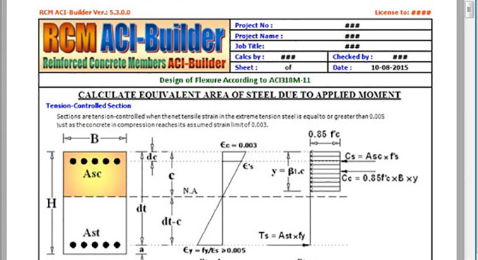 reinforcement concrete beam with RCM