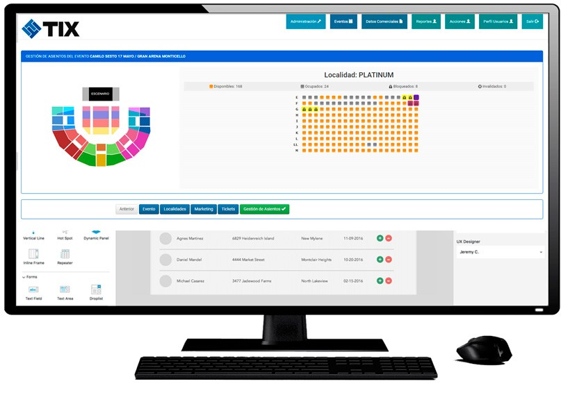 sistema de ventas de entradas en linea