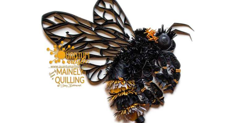 Quilled 3D Bumble Bee