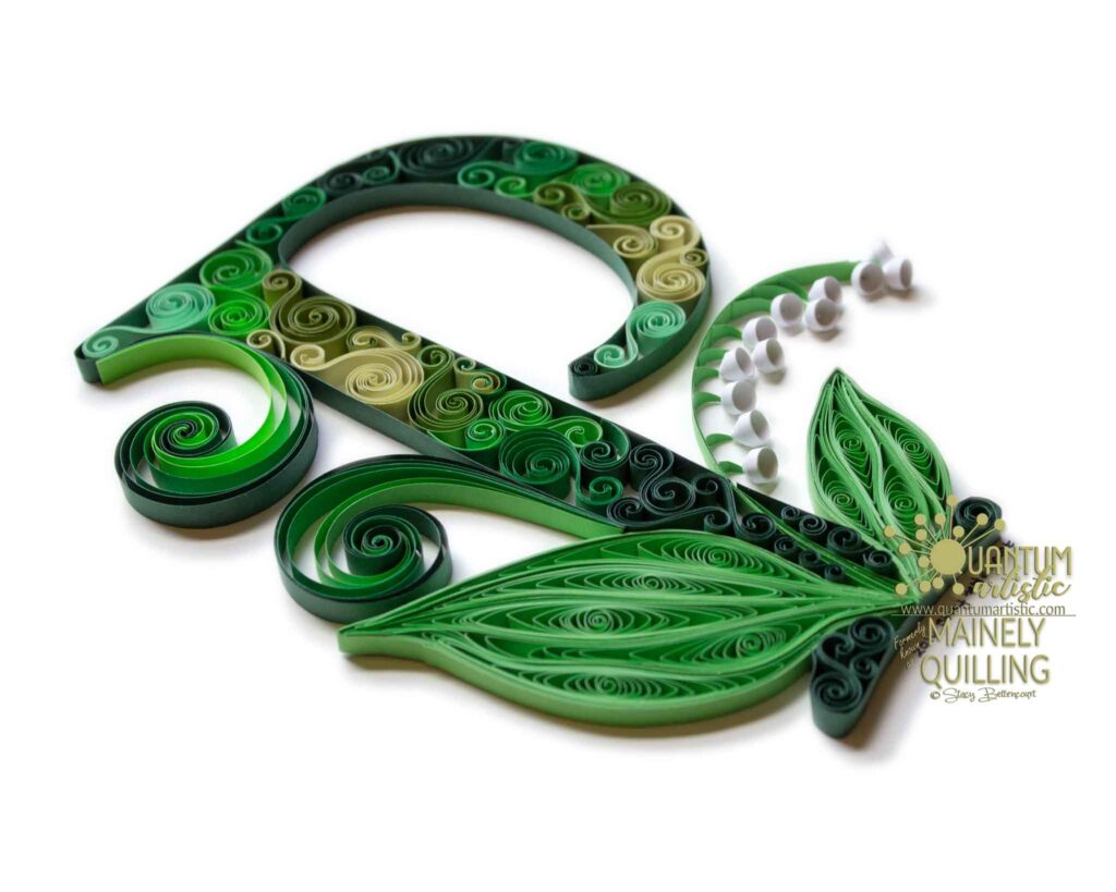 Quilled Lily-of-the-Valley Monogram