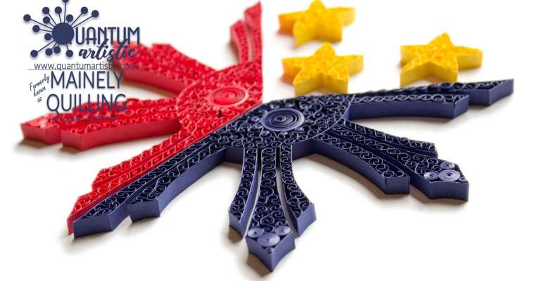 Paper Quilled Flag of the Philippines