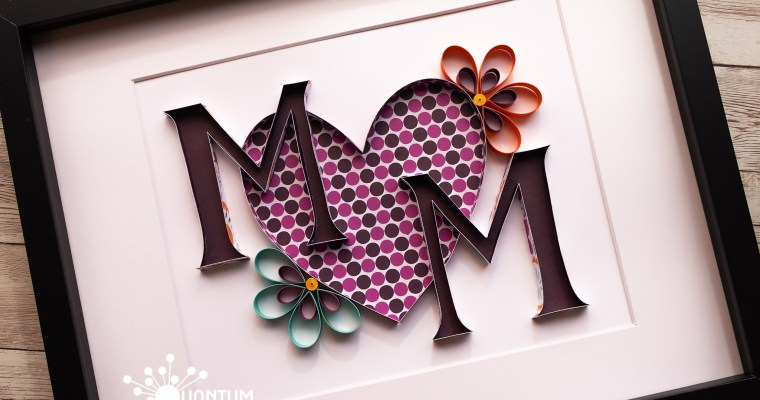 Quilled MOM Monogram | Monogram