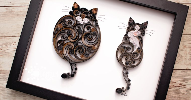 Double Scrollwork Cats | 2021