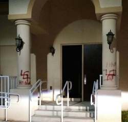 vandalized synagogue in Miami