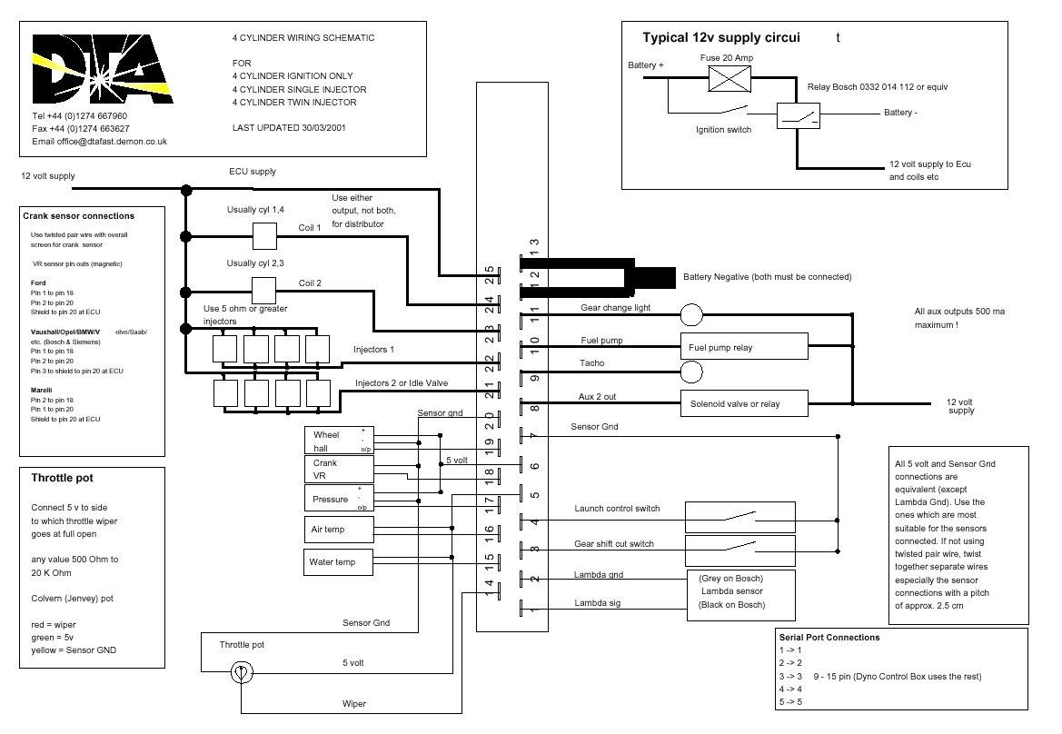 Dta Engine Managment Instalation On Escort Rst Engine