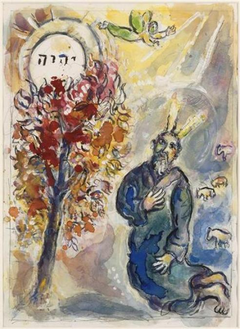 Moses_at_the_Burning_Bush_by_Marc_Chagall