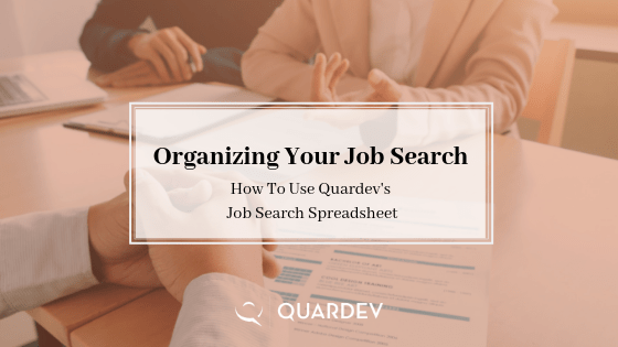 organising your job search