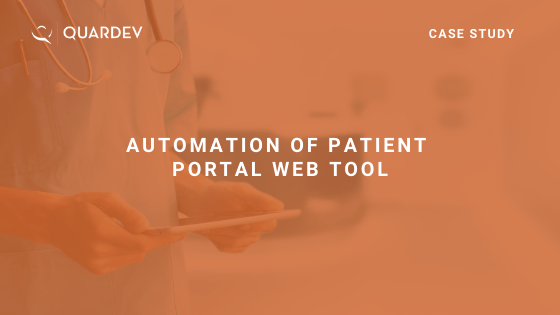 Automation of Patient Portal Web Tool