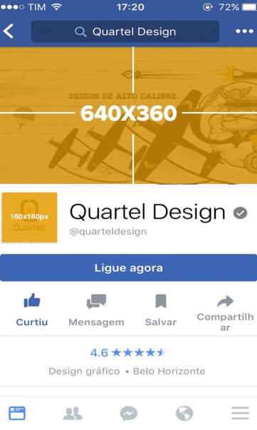 dimensões facebook mobile