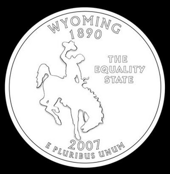 wyoming quarter design