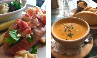 The lobster roll and lobster bisque at Lucile's took me back to the Northeast.