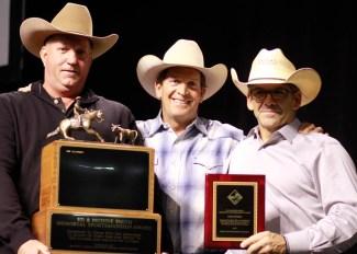 Men with an award