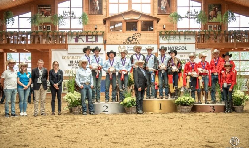 German reining team