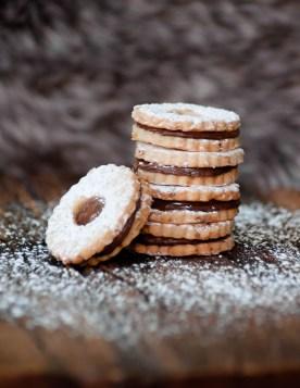 Chocolate Hazelnut Linzer Cookie
